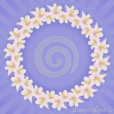Vue avec des fleurs