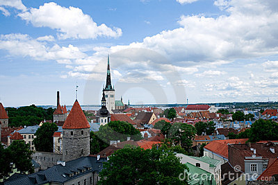 Vue de centre de Tallinn