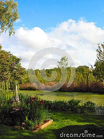 Vue de l â 1 de lac reeds