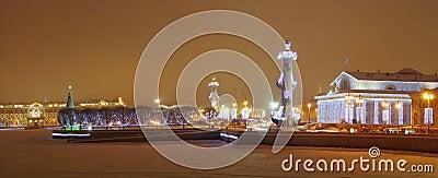 Vue de l hiver de rue - Pétersbourg, Russie