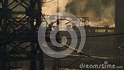vue de la centrale thermique banque de vidéos