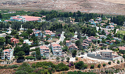 Vue de Metula, Israël
