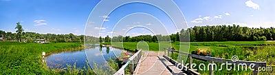 Vue de terrain de golf