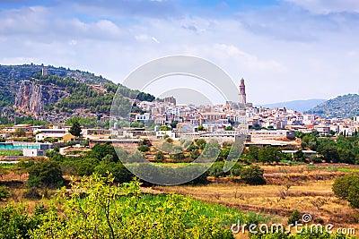 Vue générale de Jerica. La Communauté Valencian