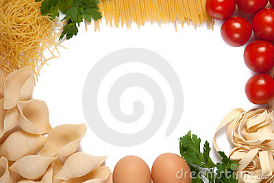 Vue pour la recette de pâtes
