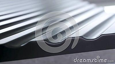 Vue rapprochée du revêtement noir, du matériau imperméable, de la construction et du concept de construction Action Le bord des t clips vidéos