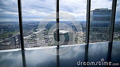 Vue scénique sur Moscou de taille banque de vidéos