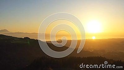 Vue sur le coucher du soleil clips vidéos