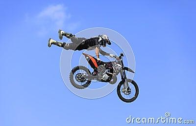 Vuelo de la bici Foto de archivo editorial