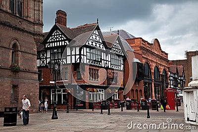 Vues autour de Chester Image éditorial