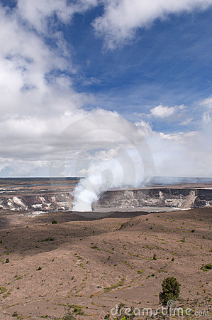Vulcão de Kilaeua, console grande, Havaí