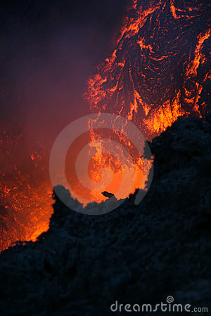 Free Vulcan Lava Royalty Free Stock Image - 9540956