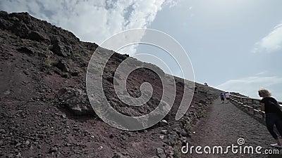 Vulkan Vesuvius, Italien stock video
