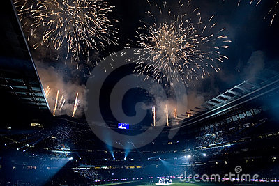 Vuurwerk Redactionele Afbeelding