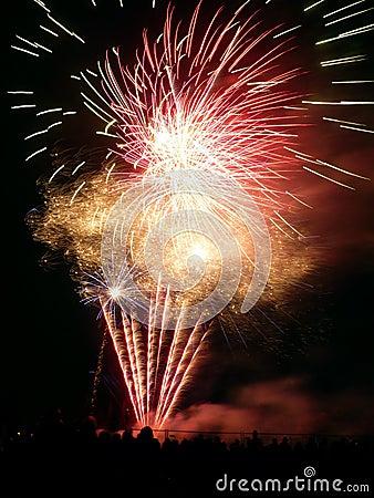 Vuurwerk in Barkingside