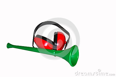 Vuvuzela with headphone