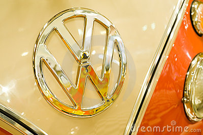 VW badge Editorial Stock Photo
