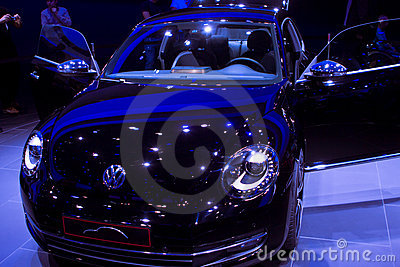 VW Beetle on 64rd IAA Editorial Stock Image