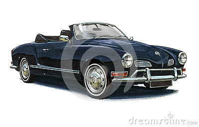 VW Karmann Ghia Editorial Stock Image