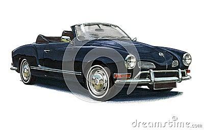 VW Karmann Ghia Editorial Stock Image