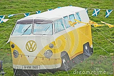 VW tent at Braemar Gathering Editorial Image