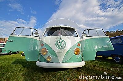 Vw transporter classic camping van Editorial Image