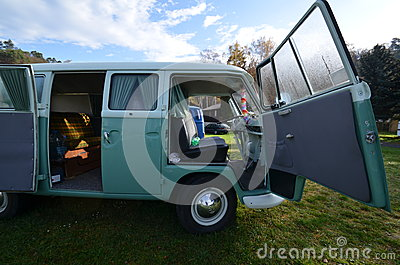 Vw transporter classic camping van Editorial Photo