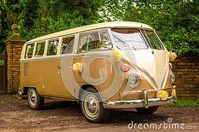 A VW Wedding camper van