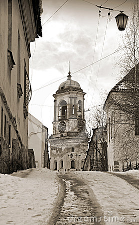 Vyborg, Russia. Vintage stylized photo