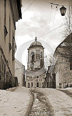Vyborg, Russia. Vintage stylized photo