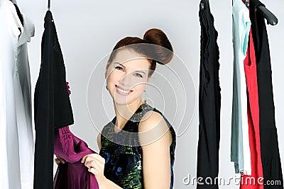 Wählen des Kleides