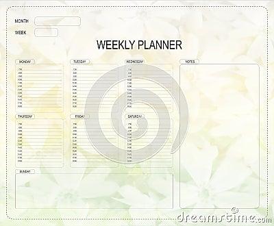 Wöchentlicher Planer