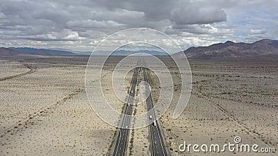 Wüste Mittel-Kalifornien nach Arizona stock video
