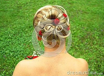 Włosy ślubne styl