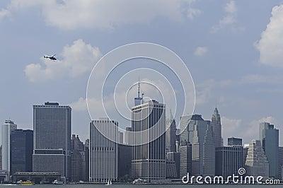 W centrum Manhattan linia horyzontu