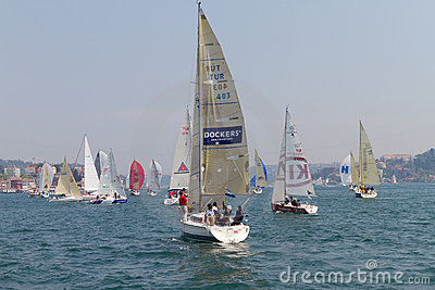 W Collection Sailing Cup Bosphorus 2011 Editorial Photo