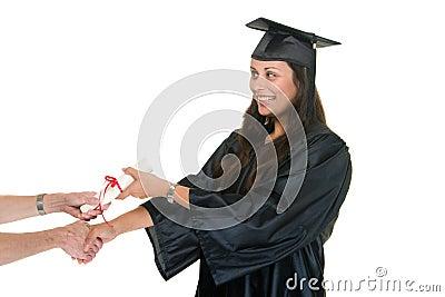 W Graduate Receiving Diploma 7