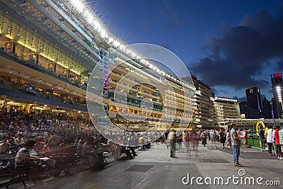 W Hong Kong szczęśliwy Dolinny Racecourse Obraz Editorial