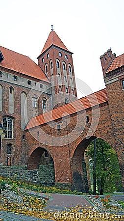 W Kwidzyn średniowieczny Teutoński kasztel