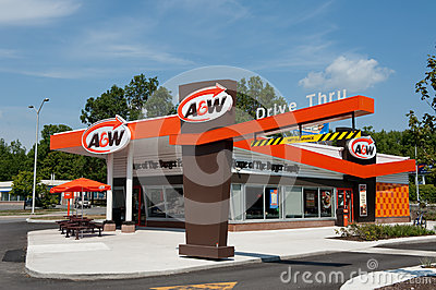 A&W Restaurant in retro style Editorial Photography