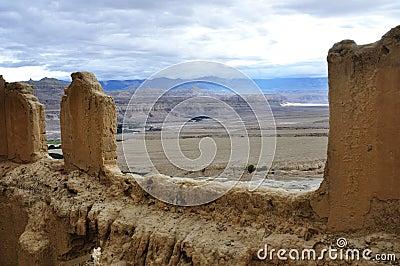 W Tibet królestwa antyczny miejsce
