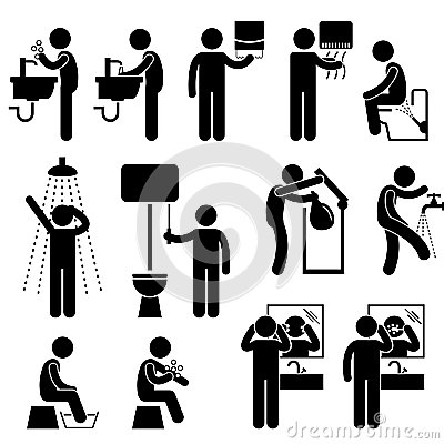 W Toaletowym Piktogramie osobista Higiena