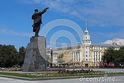 W Voronezh Lenin Kwadrat, Rosja Obraz Editorial