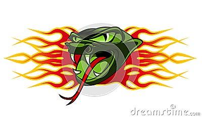 Węża tatuaż