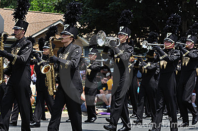 Waconia High School Marching Band in a Parade Editorial Stock Image