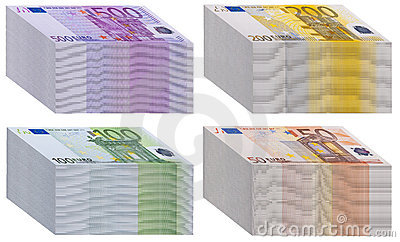 Wads of banknotes