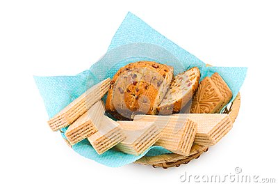 Wafers, a fruitcake and cookies