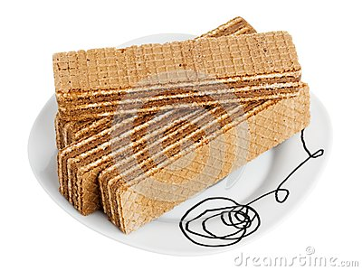 Wafers on a white plate