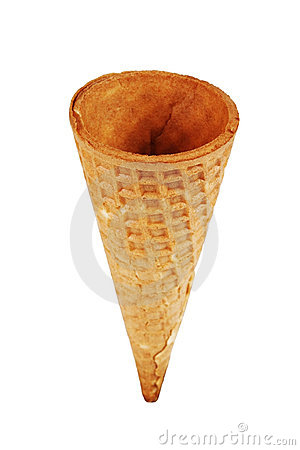 Waffle cone for ice cream