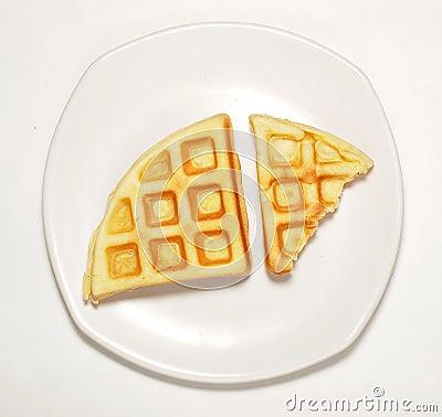 Waffle on dish
